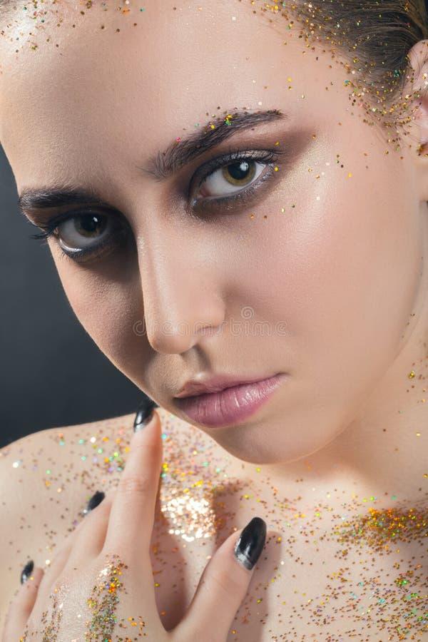 Kleurrijk polijst make-up royalty-vrije stock afbeeldingen