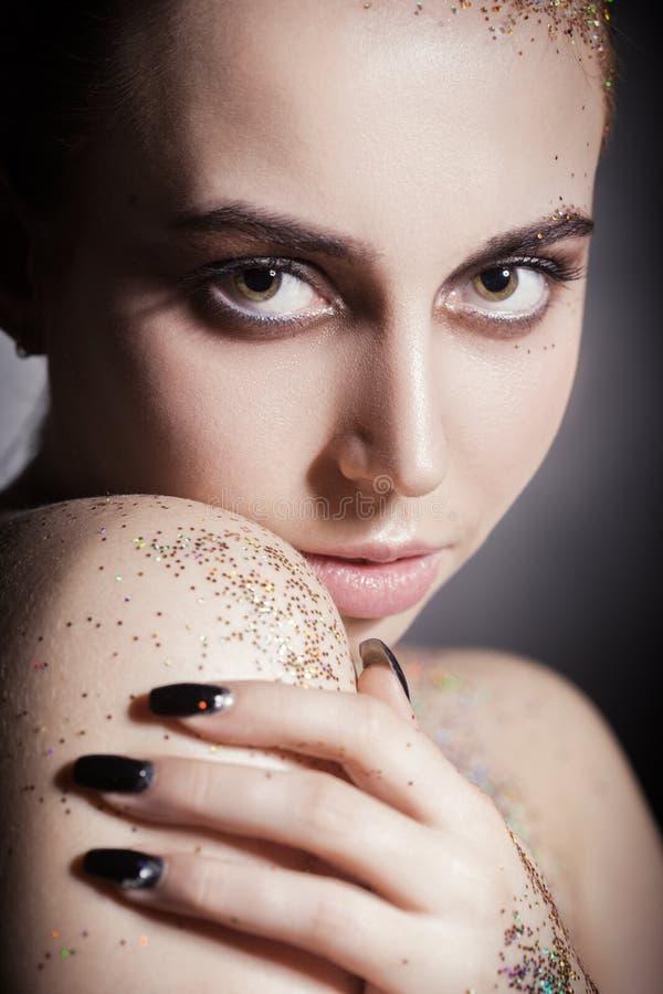Kleurrijk polijst make-up stock foto