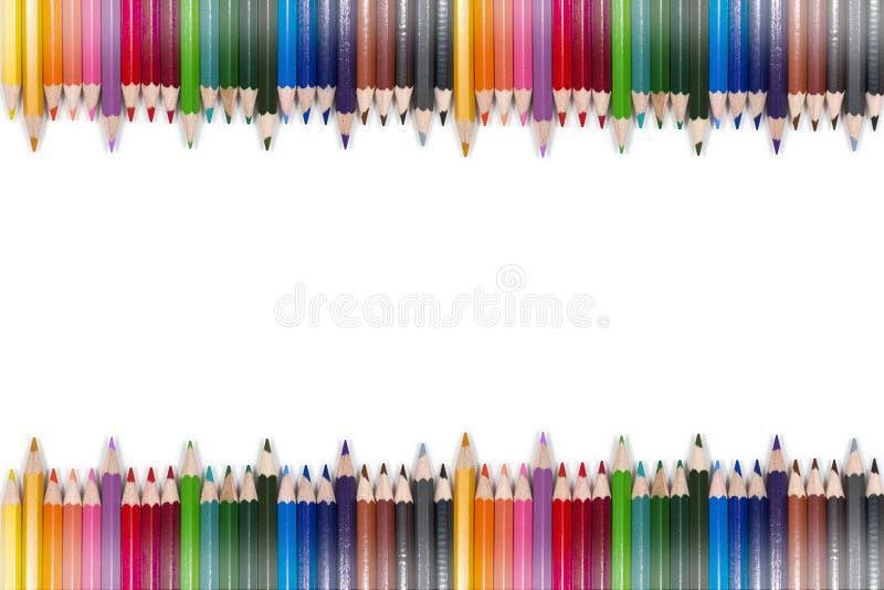 Kleurrijk Potloodkader 10 royalty-vrije stock afbeelding
