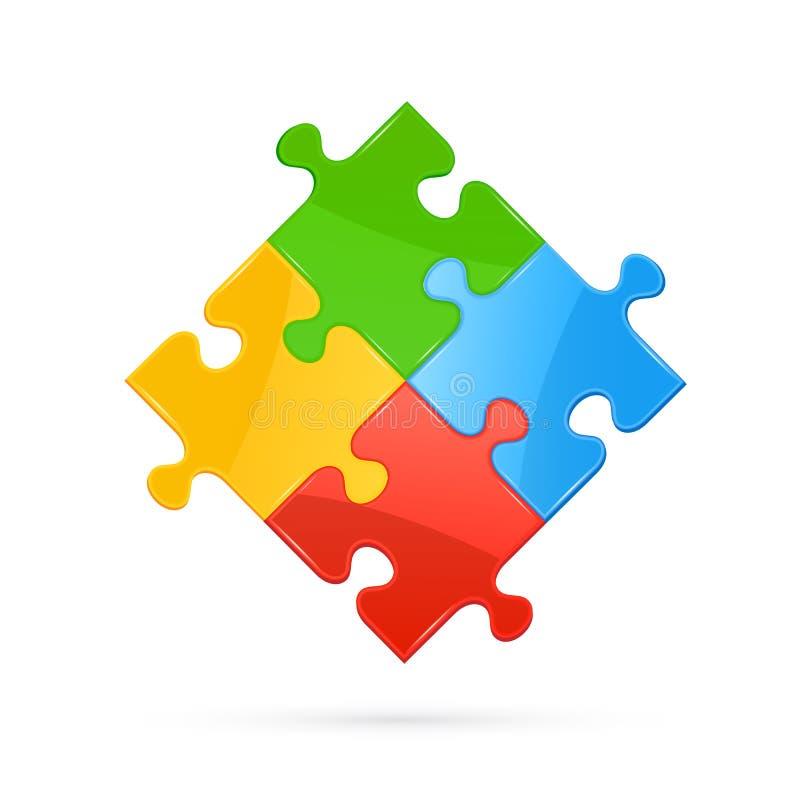 Kleurrijk raadsel vector illustratie