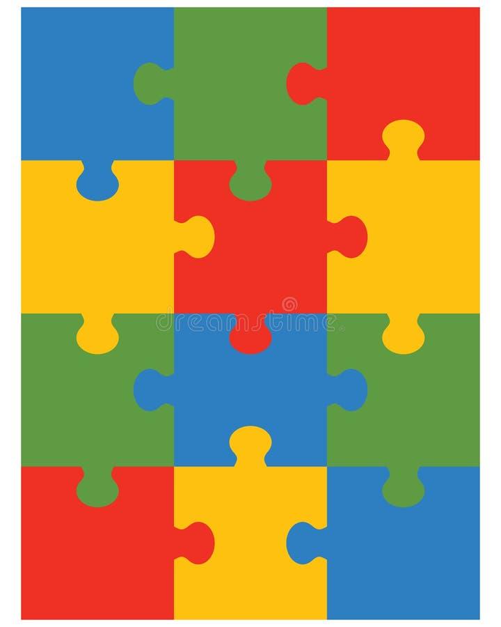 Kleurrijk raadsel 12 vector illustratie