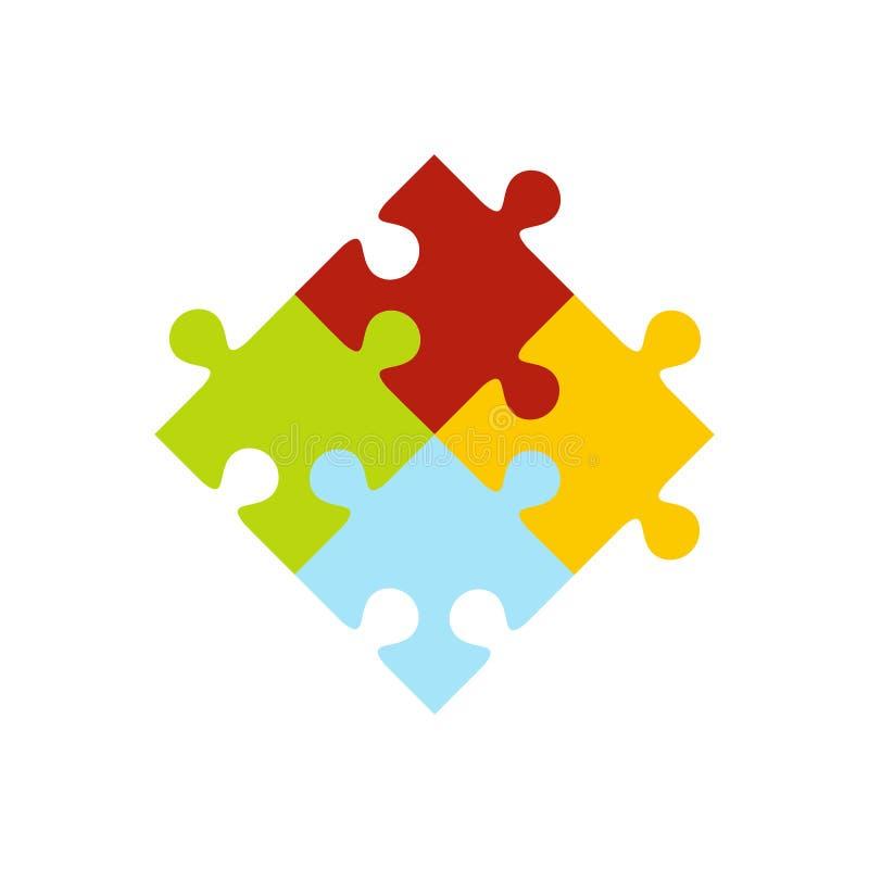 Kleurrijk raadselpictogram stock illustratie