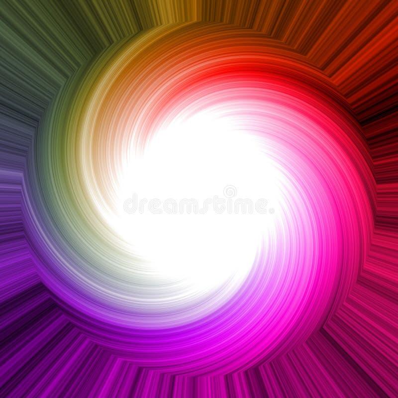 Kleurrijk regenbooggebied met witte cirkel in centrum voor uw inhoud stock illustratie