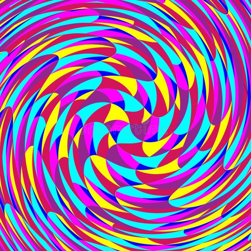 Kleurrijk Retro patroon van draai abstracte achtergrond vector illustratie