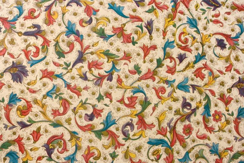 Kleurrijk retro tapijtwerk textielpatroon royalty-vrije stock afbeeldingen
