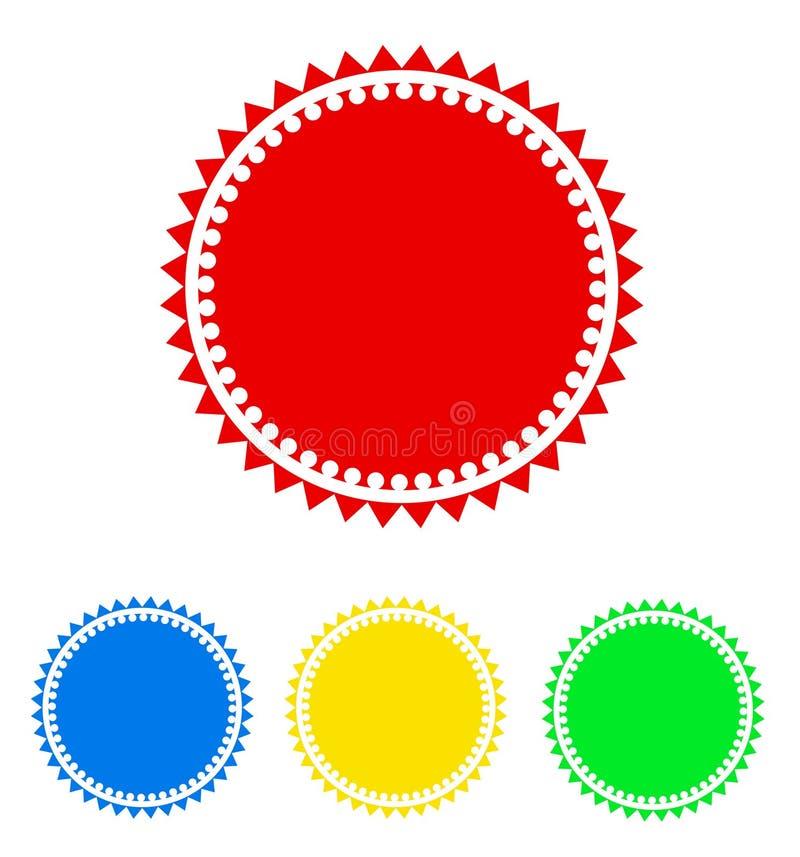 Kleurrijk rond kentekenpictogram, voor uw ontwerp, voorraadvector illustr vector illustratie