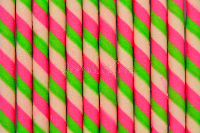 Kleurrijk samengebracht wafeltjebroodje stock afbeelding