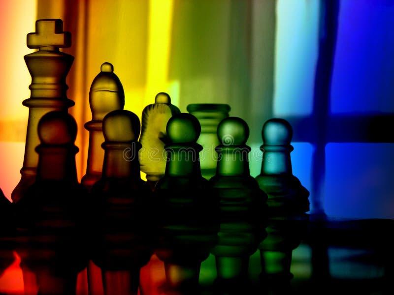 Kleurrijk schaak royalty-vrije stock afbeelding