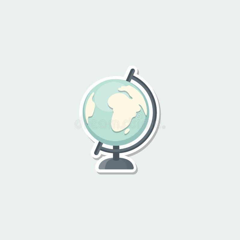 Kleurrijk schoolsymbool - wereldbol royalty-vrije illustratie