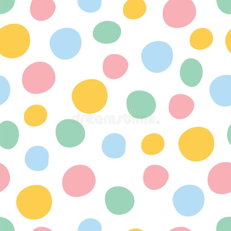 Kleurrijk stip naadloos patroon royalty-vrije illustratie