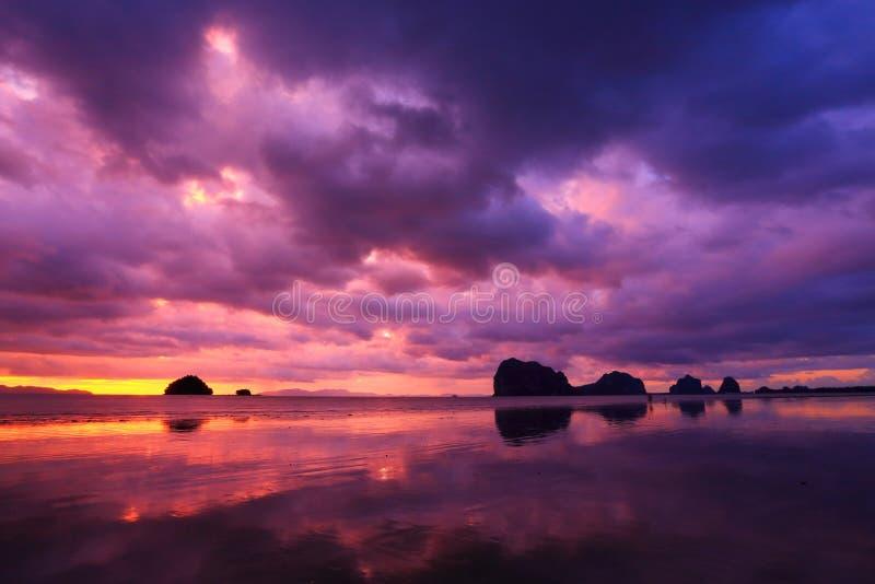 Kleurrijk strand stock fotografie