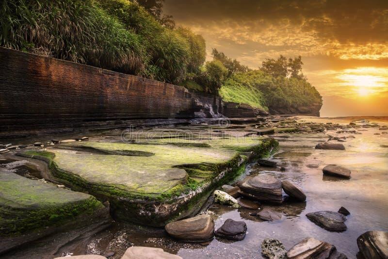 Kleurrijk strand stock afbeelding