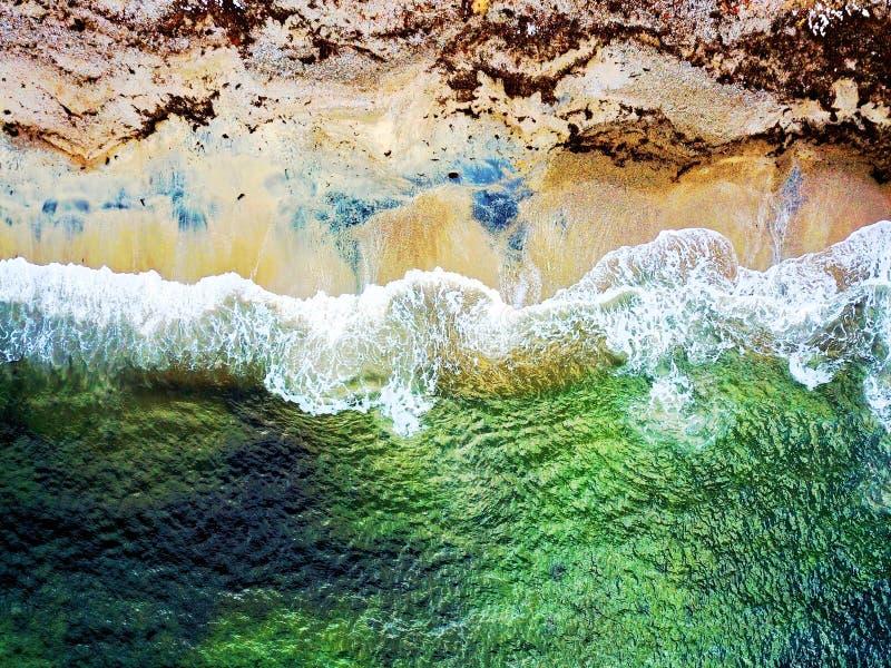 Kleurrijk strand in Zuid-Noorwegen royalty-vrije stock afbeelding