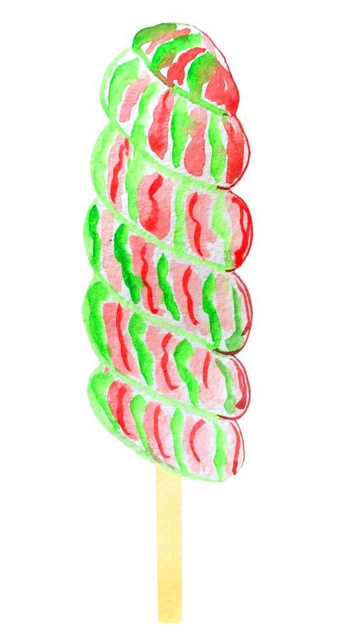 Kleurrijk suikergoed op een stok vector illustratie