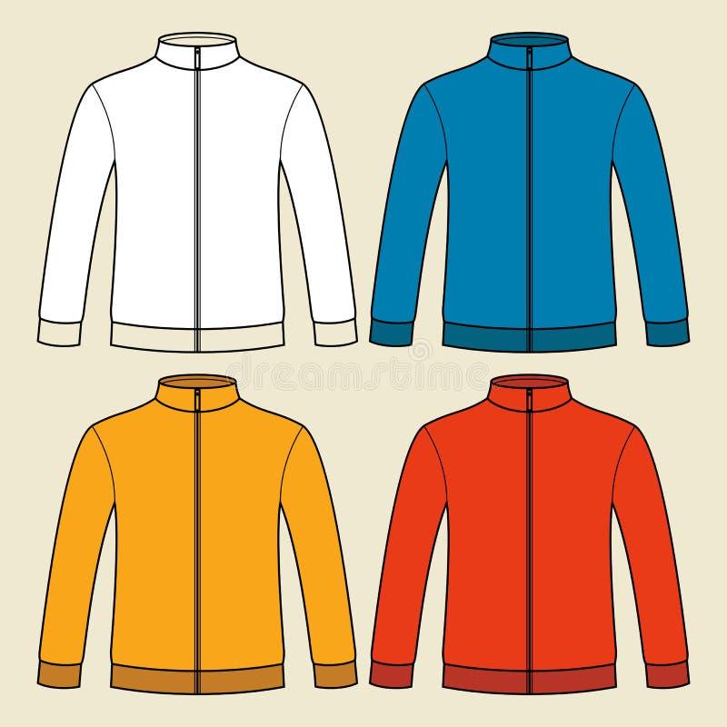 Kleurrijk sweatshirtsmalplaatje royalty-vrije illustratie