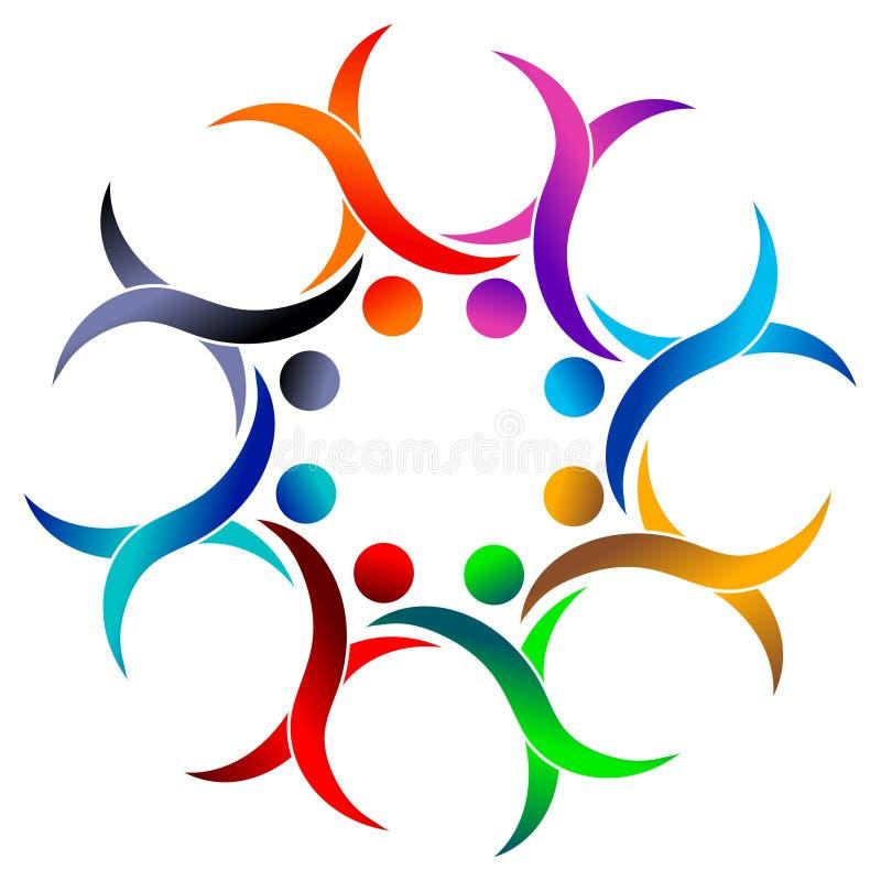 Kleurrijk team vector illustratie