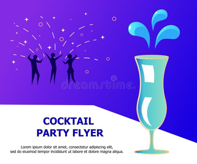 Kleurrijk teken, helder alcoholisch uithangbord, lichte banner stock illustratie