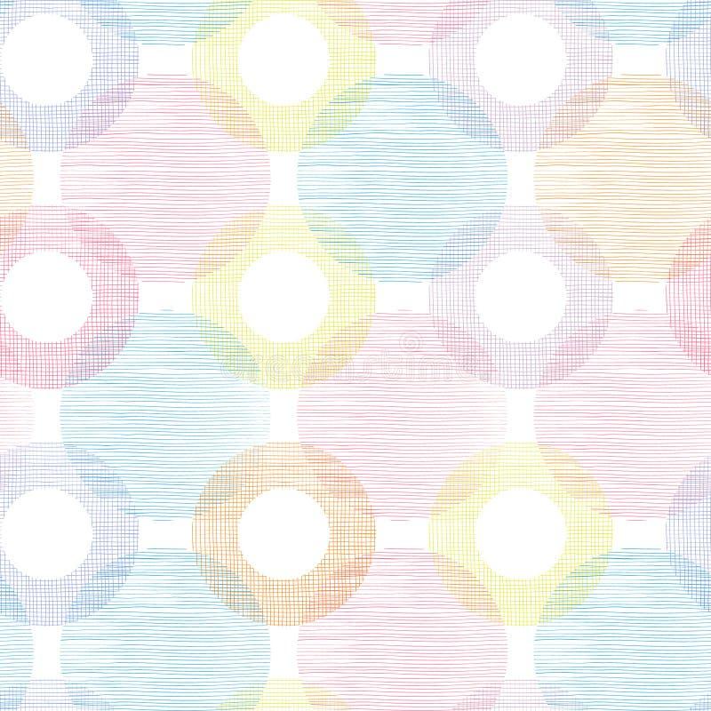 Kleurrijk textielcirkels naadloos geklets royalty-vrije illustratie