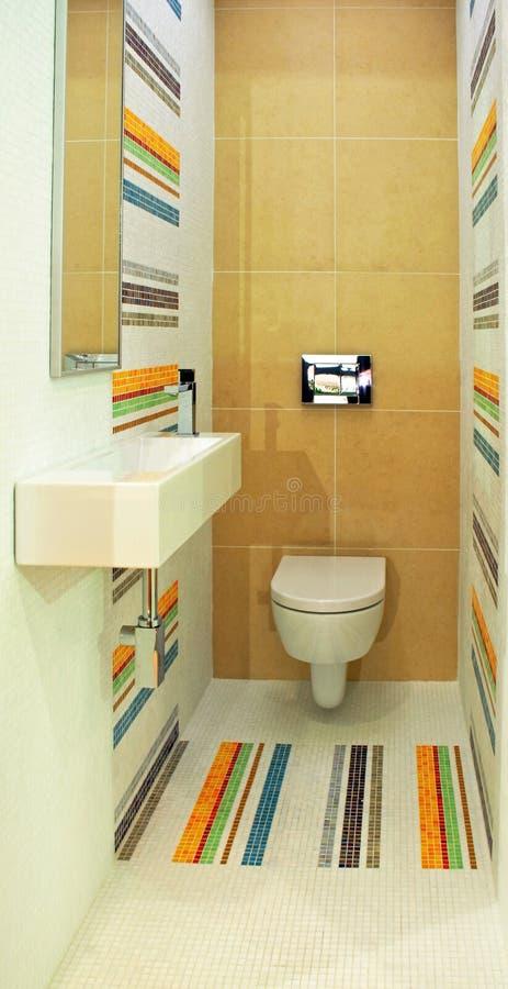 Kleurrijk toilet stock foto's