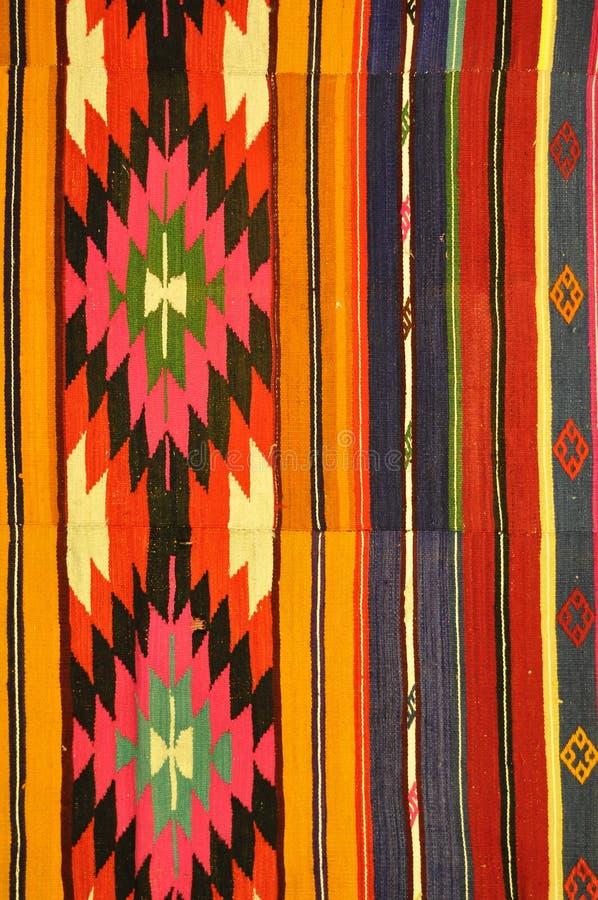 Kleurrijk Turks tapijt royalty-vrije stock afbeeldingen