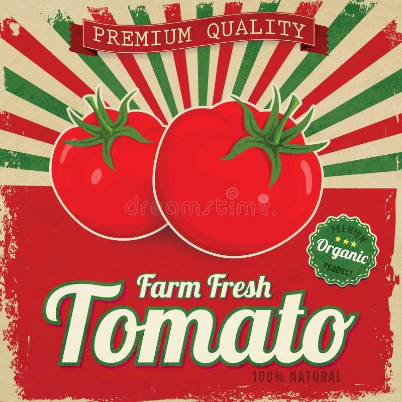 Kleurrijk uitstekend Tomatenetiket vector illustratie