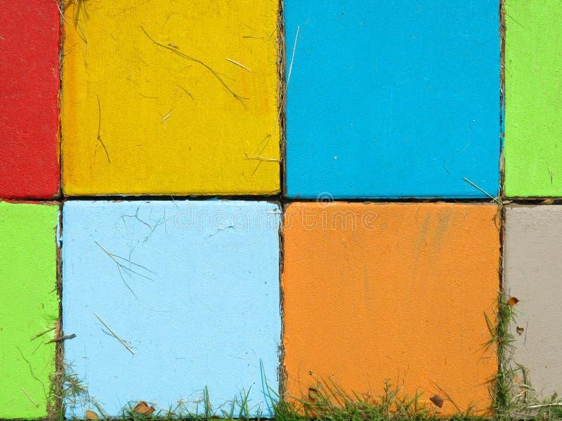 Kleurrijk van Baksteen stock afbeelding