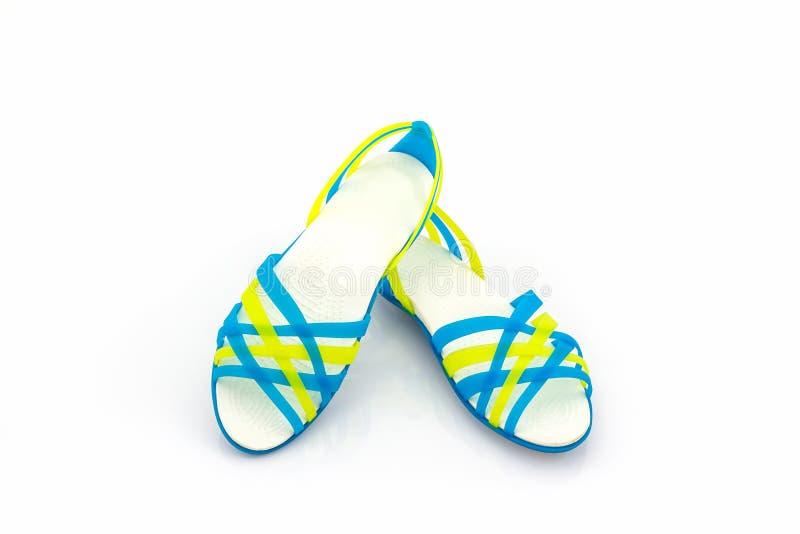 Kleurrijk van de schoenen/de wipschakelaars van Sandals royalty-vrije stock foto's