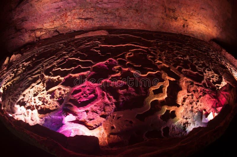 Kleurrijk van Huanglong-hol in China royalty-vrije stock afbeelding