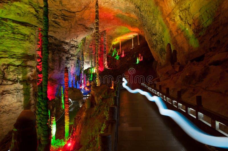 Kleurrijk van Huanglong-hol in China royalty-vrije stock afbeeldingen
