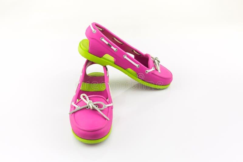 Kleurrijk van Sandals-schoenen, wipschakelaars stock fotografie