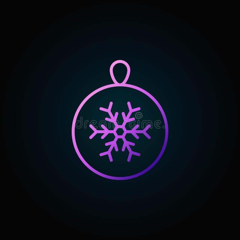 Kleurrijk vector het overzichtspictogram van de Kerstmisbal of ontwerpelement royalty-vrije illustratie