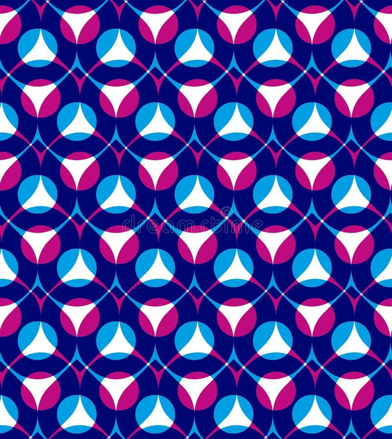 Kleurrijk vector naadloos patroon met druppeltjes royalty-vrije illustratie