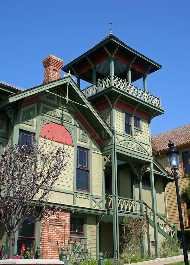 Kleurrijk Victoriaans Huis royalty-vrije stock afbeelding