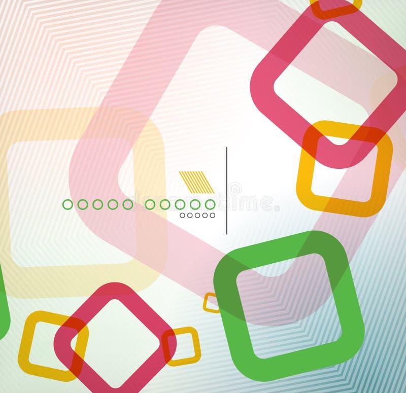 Kleurrijk vierkant geometrisch vorm vlak ontwerp vector illustratie