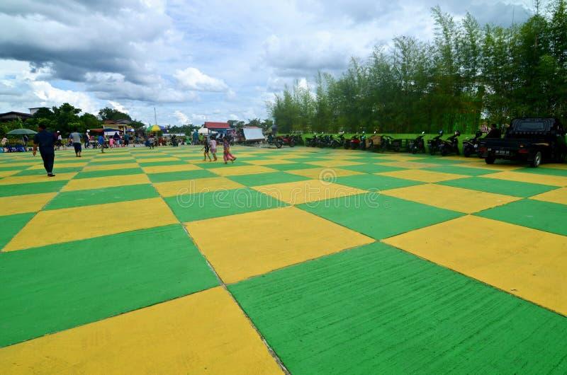 Kleurrijk Vierkant in Siak, Indonesië stock fotografie