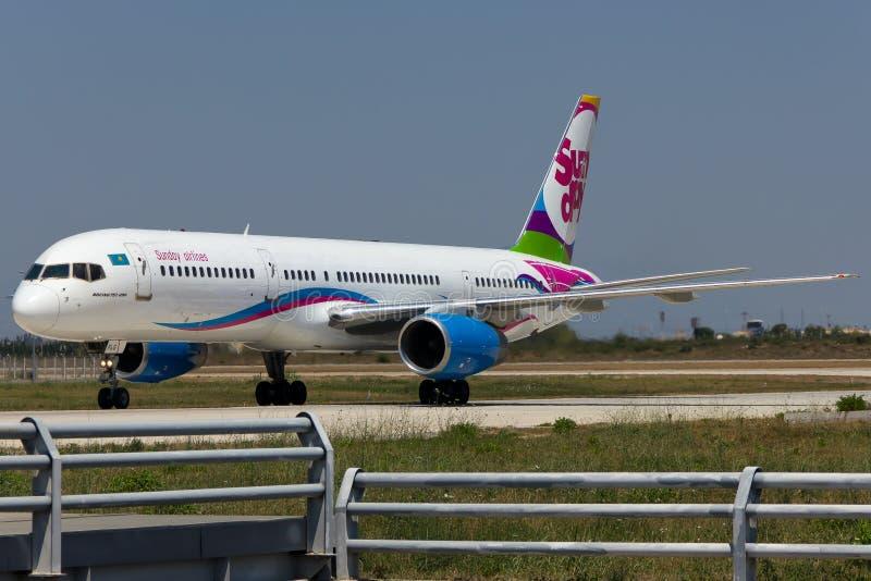 Kleurrijk vliegtuig stock fotografie