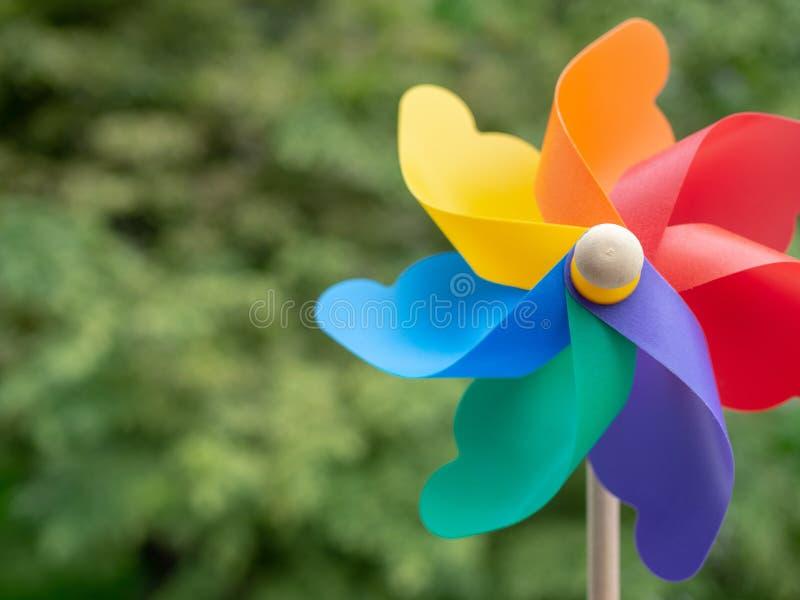 Kleurrijk Vuurrad stock afbeelding
