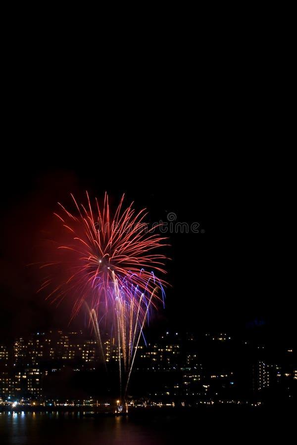 Kleurrijk vuurwerk stock afbeelding