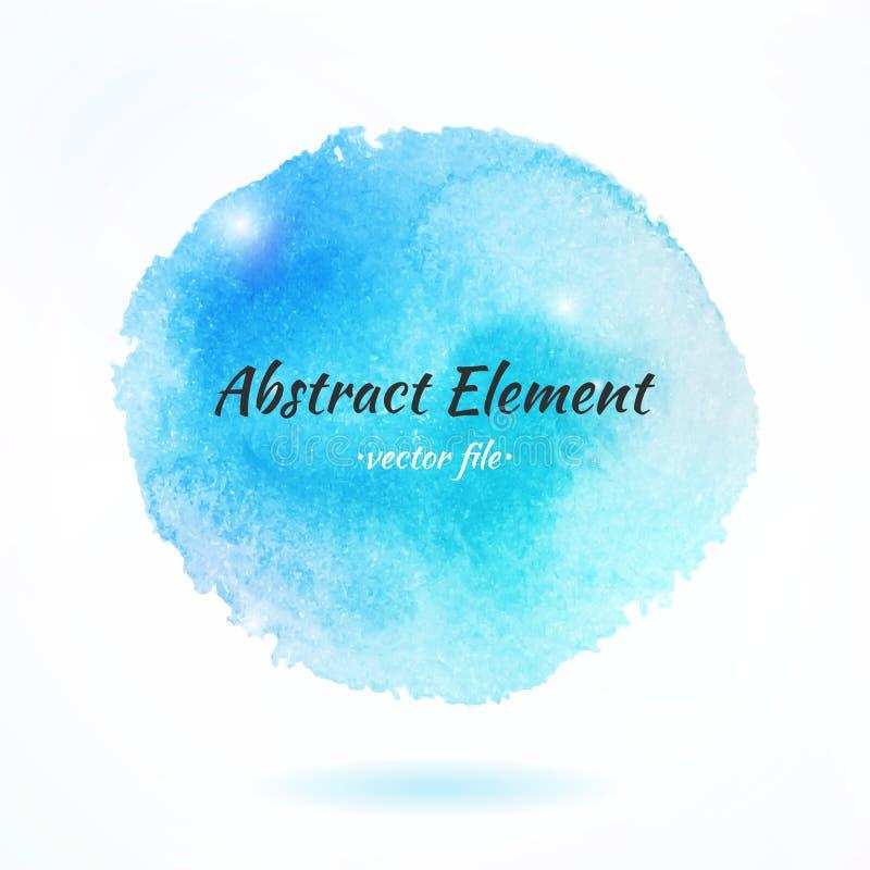 Kleurrijk Waterverf Abstract Vectorelement royalty-vrije illustratie