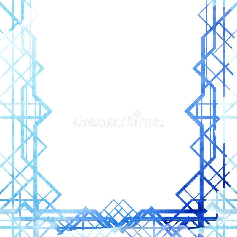 Kleurrijk waterverf geometrisch kader royalty-vrije illustratie