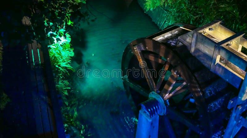 Kleurrijk waterwiel stock foto