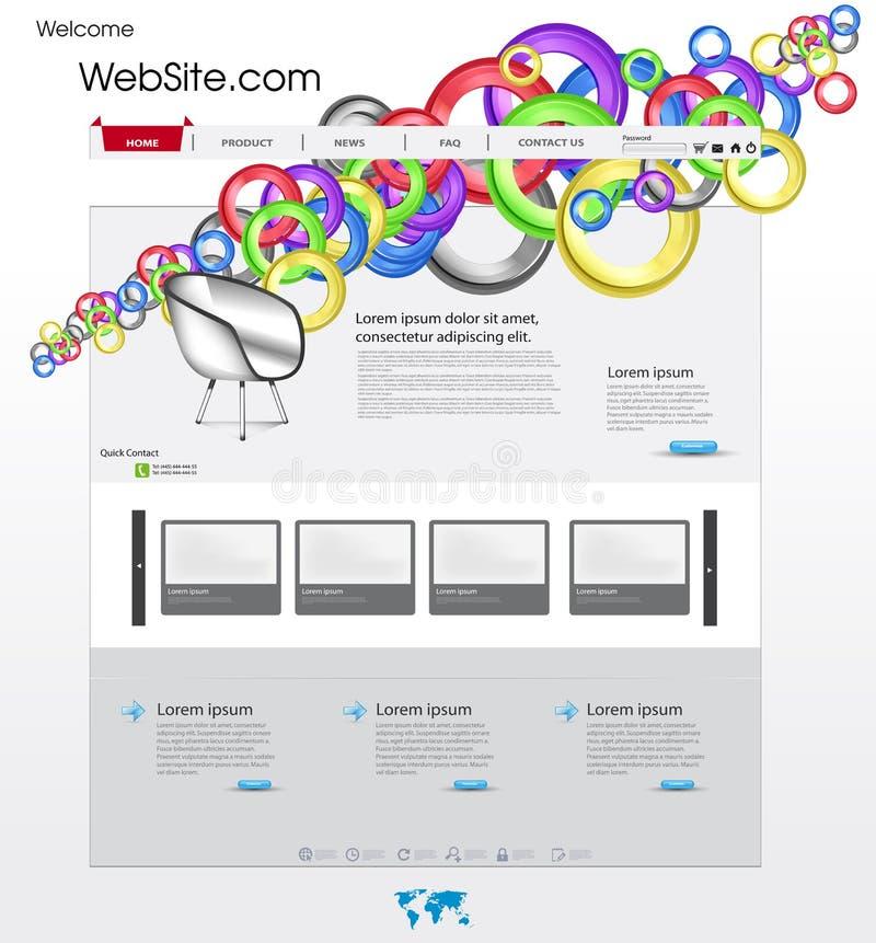 Kleurrijk websitemalplaatje vector illustratie