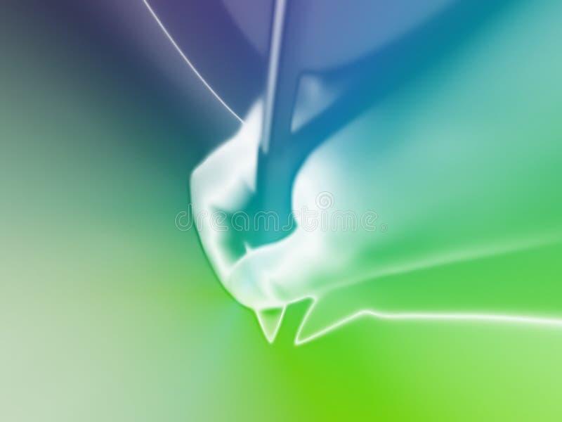 Kleurrijke 3D abstracte achtergrond stock illustratie