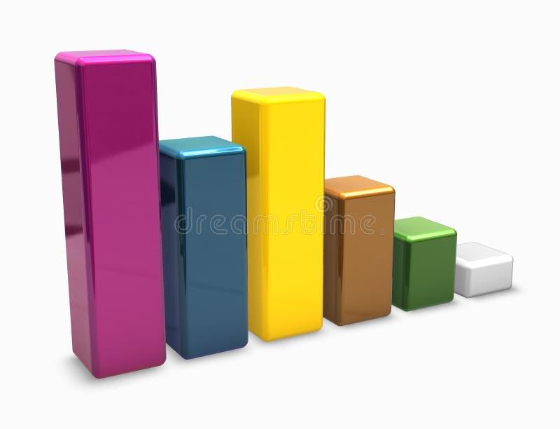 Kleurrijke 3d grafiekstaven vector illustratie