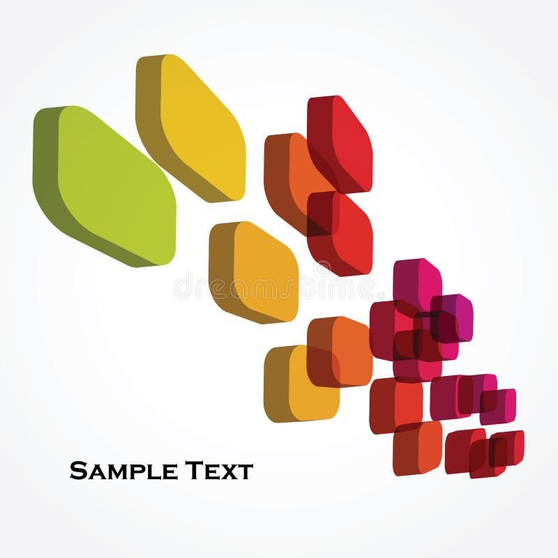 Kleurrijke 3d kubussen royalty-vrije illustratie