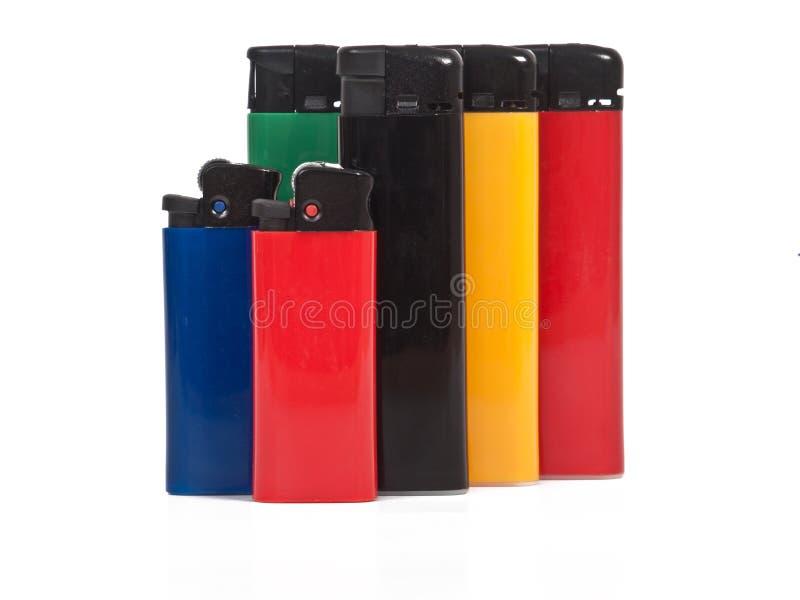 Kleurrijke aanstekers stock foto's