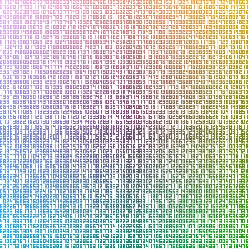 Kleurrijke aantallen royalty-vrije illustratie