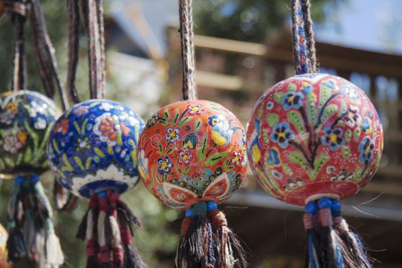 Kleurrijke aardewerkballen royalty-vrije stock afbeelding