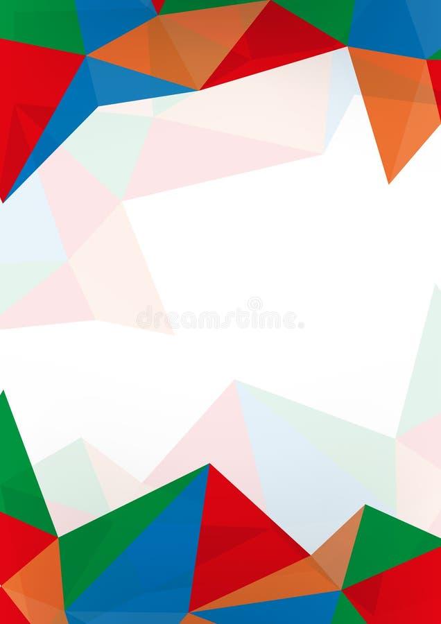 Kleurrijke abstracte achtergrond met ruimte stock illustratie