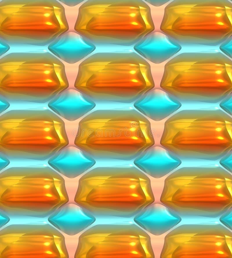 Kleurrijke Abstracte Achtergrond, Uniek patroon met het gloeien lichten royalty-vrije illustratie